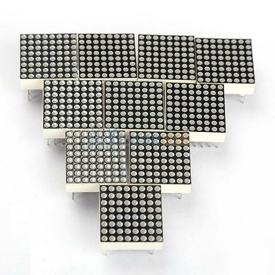 10PCS LED Dot Matrix Display Module Red 16 Pin 8x8 Common Anode 19mm*19mm New