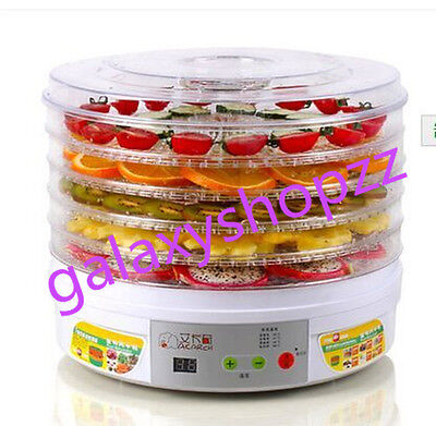Healthy Food Chips Dehydrator Dryer LCD Display 5 racks for Fruits Veggies Meats