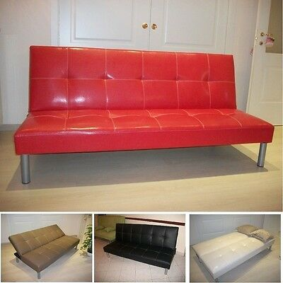 Sofa bed sofabed faux leather bed settee various colours