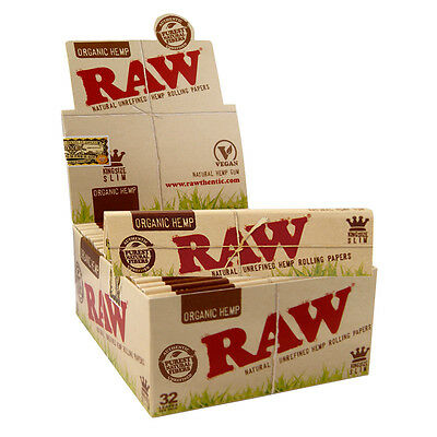 Raw Organic King Size Slim 110 mm Rolling Papers - 50er Box