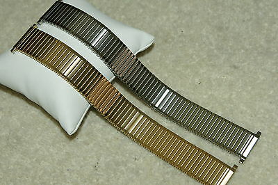 XL Stainless Steel Expander Bracelet Watch Strap 18-22mm 20-24mm bars + tool