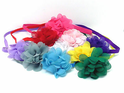 Headband Hair Band Flower Hair Accessories Bow Elasticated Chiffon Baby Girls