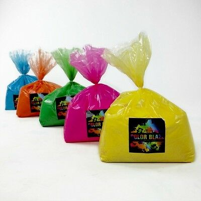 50 LBS Color Run Powder FREE SHIPPING 10lbs of 5 colors Holi Powder