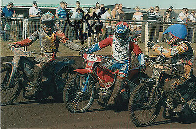 Wayne Carter Hand Signed Scunthorpe Scorpions Speedway 6X4 Photo.