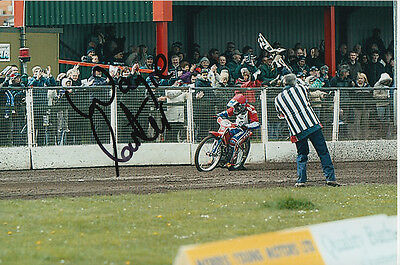 Wayne Carter Hand Signed Scunthorpe Scorpions Speedway 6X4 Photo 5.