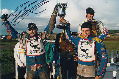 Paul Cooper Hand Signed Scunthorpe Scorpions Speedway 6X4 Photo 6.
