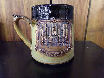 Wells Cathedral Stoneware Beer Stein EXCELLENT Condition