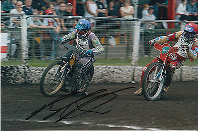 Paul Cooper Hand Signed Scunthorpe Scorpions Speedway 6X4 Photo 11.