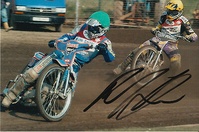 Paul Cooper Hand Signed Scunthorpe Scorpions Speedway 6X4 Photo 17.
