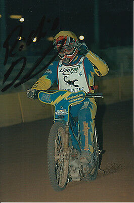 Richie Dennis Hand Signed Scunthorpe Scorpions Speedway 6X4 Photo 1.