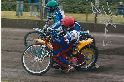 Andrew Tully Hand Signed Scunthorpe Scorpions Speedway 6X4 Photo 8.