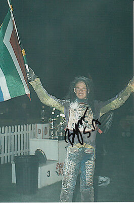 Byron Bekker Hand Signed Scunthorpe Scorpions Speedway 6X4 Photo 6.