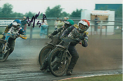 Byron Bekker Hand Signed Scunthorpe Scorpions Speedway 6X4 Photo 9.