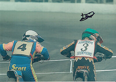 TAI WOFFINDEN HAND SIGNED SCUNTHORPE SCORPIONS SPEEDWAY 7x5 PHOTO.