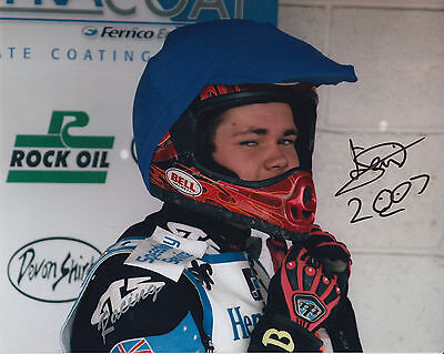 TAI WOFFINDEN HAND SIGNED SCUNTHORPE SCORPIONS 10x8 PHOTO SPEEDWAY 3.