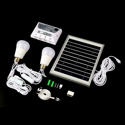 """""""Portable Solar LED Camping Lantern Light Systen Home With Mobile Phone Charge D"""