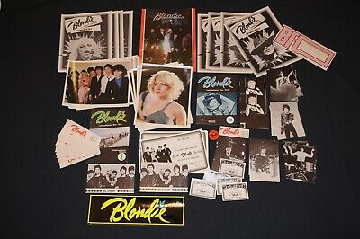 82 Items Vintage 1979 Blondie Fan Club Collectors pack Lot Debbie Harry Deborah