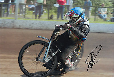 SCOTT ANDERSON HAND SIGNED SCUNTHORPE SCORPIONS 12x8 PHOTO SPEEDWAY 1.