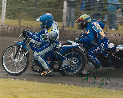 BYRON BEKKER HAND SIGNED SCUNTHORPE SCORPIONS 10x8 PHOTO SPEEDWAY.