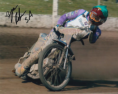 BYRON BEKKER HAND SIGNED SCUNTHORPE SCORPIONS 10x8 PHOTO SPEEDWAY 1.