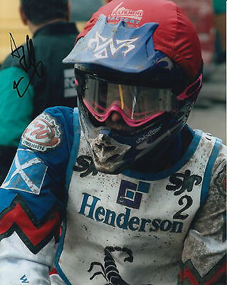 ANDREW TULLY HAND SIGNED SCUNTHORPE SCORPIONS 10x8 PHOTO SPEEDWAY 2.