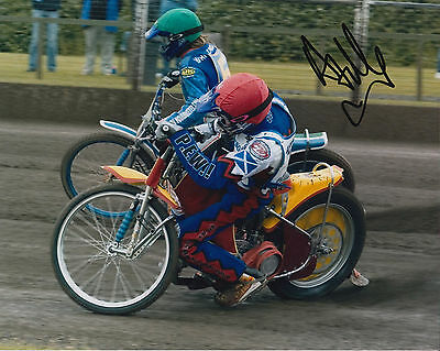ANDREW TULLY HAND SIGNED SCUNTHORPE SCORPIONS 10x8 PHOTO SPEEDWAY 4.