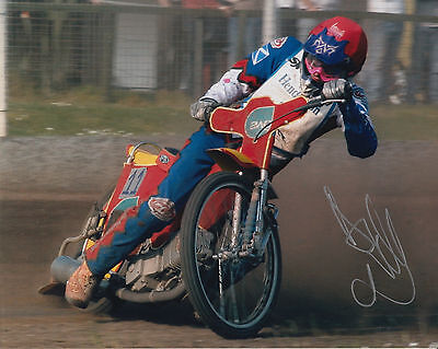 ANDREW TULLY HAND SIGNED SCUNTHORPE SCORPIONS 10x8 PHOTO SPEEDWAY 5.