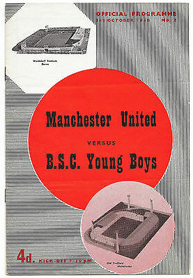 Manchester United v Young Boys, 1958/59 - Friendly Match Programme.