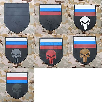 Russian Federation Punisher flag Military tactics morale 3D PVC Patch