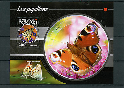 Togo 2015 MNH Butterflies 1v S/S Insects Butterfly Fauna Papillons
