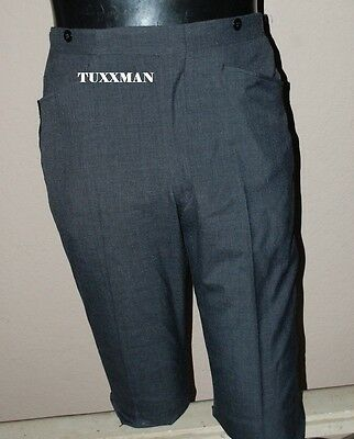 Boys 20 19 18 Charcoal Grey Gray Black Vintage Edwardian Tuxedo Stroller  pants
