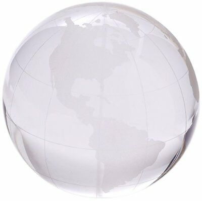 Two's Company World View Etched Globe Paperweight, Hand-Etched Glass Design New
