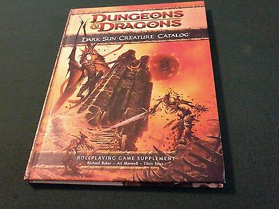 Dungeons and dragons 4.0: Dark Sun: Creature Catalog Hardcover