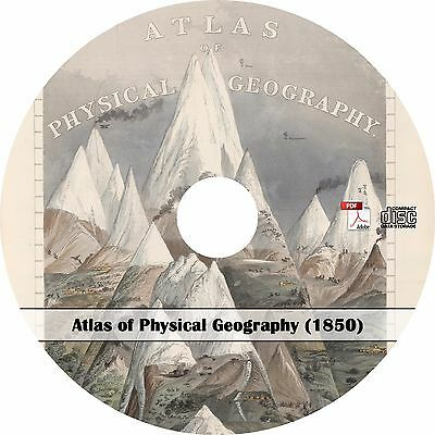 1850 Atlas of Physical Geography - World Maps Book on CD