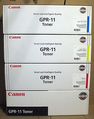 4 New Factory Sealed Genuine Canon GPR-11 Set Toner Cartridges GPR11 ALL COLORS