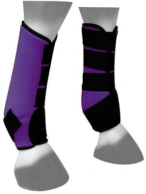 Showman PURPLE Neoprene Sport Boots Horse's Front or Hind Legs New Horse Tack