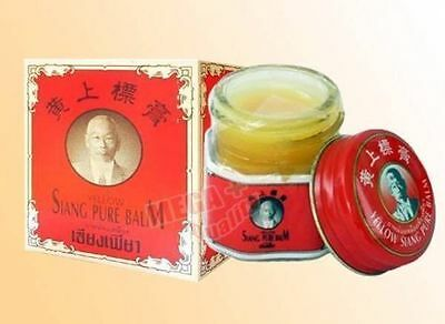 SIANG PURE BALM Red Original Formula Medicated Oil Inhaler Pain relief cold 12g.