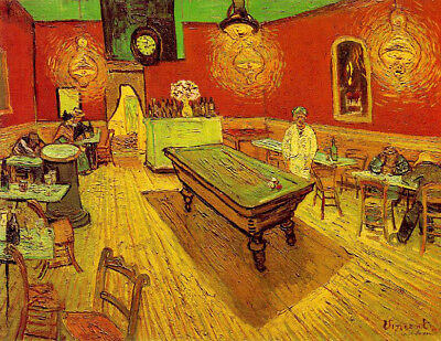 The Night Cafe by Vincent Van Gogh, Handmade Oil Painting Reproduction on Canvas
