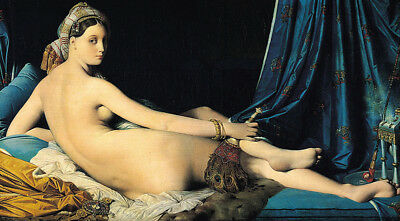 The Grand Odalisque by Jean Auguste Dominique Ingres, Oil Painting Reproduction