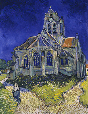 """The Church At Auvers by Vincent Van Gogh, Oil Painting Reproduction, 24"""" x 32"""""""