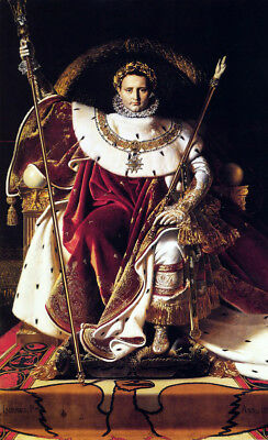 Portrait Of Napoleon by Jean Auguste Dominique Ingres, Oil Painting Reproduction