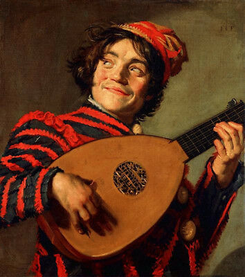 Portrait Of A Jester With A Lute by Frans Hals, Oil Painting Canvas Reproduction
