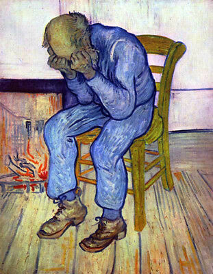 """Old Man In Sorrow by Vincent Van Gogh, Oil Painting Art Reproduction, 24"""" x 32"""""""