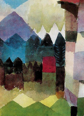 Foehn Wind In Marcs Garden by Paul Klee, Oil Painting Reproduction on Canvas