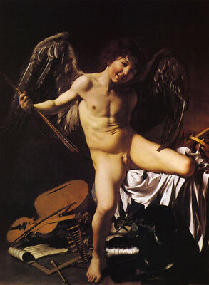 Amor Victorious by Caravaggio, Handmade Oil Painting Reproduction on Canvas