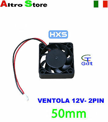 VENTOLA 50MM 2 PIN RAFFREDDAMENTO PC NOTEBOOK LAPTOP 12V 25dBA 4700RPM  9.68CFM