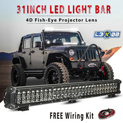 30inch 462W OSRAM LED Work Light Bar Flood Spot Combo Offroad Pickup 4WD ATV 28""