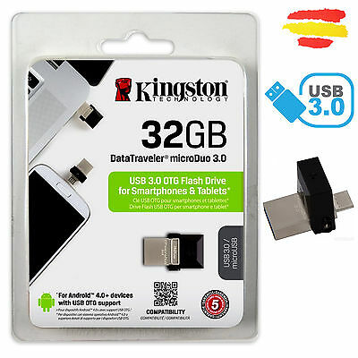 Pendrive Kingston 32Gb Memoria Usb 3.0 Pen Drive 32 Original Otg Móvil Gb