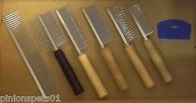 Dog Cat Flea Dust Moulting Low Static Combs Fine Tooth Coarse Double Sided Metal