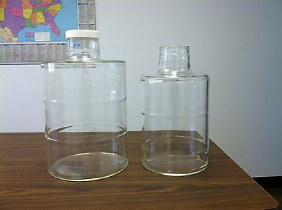 glass carboy new  heavy duty Pyrex 3.5 and 5 gallon sizes  EZ clean wide opening